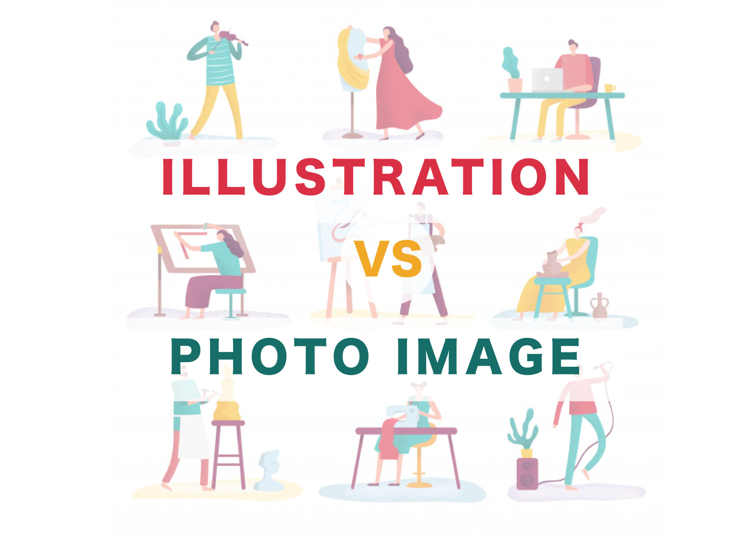 illustlation vs photo