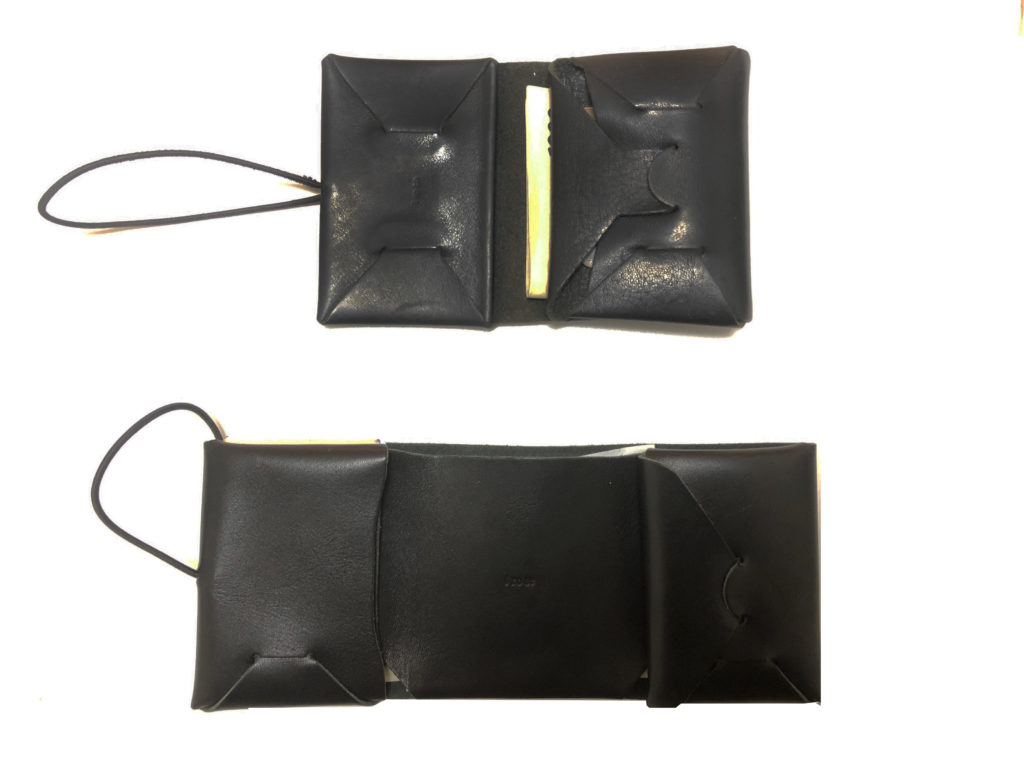 two black wallet