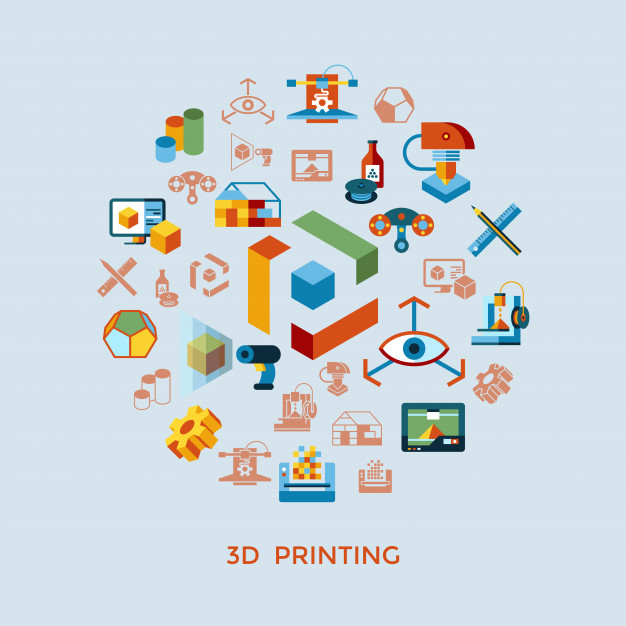 3D CAD icons